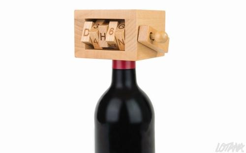 Wijn puzzel cijferslot