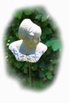 Aged Ceramic Buste op  pin