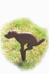 Tuinbordje No dogs van gietijzer bruin