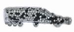 Vrachtwagen van glas met dropmint gevuld