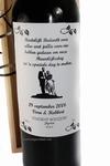 Wijnfles  als dank voor Huwelijksdag