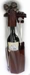 Wijnpuzzel met Rode Merlot wijn met persoonlijk etiket