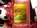 Wijnfles met doorkijkvenster 50 jaar