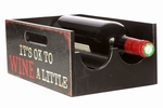 Wijnfles kistje met wijn