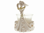 144 stuks Bedankje trouwkoppel modern met kaarsenhouder