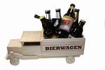 Houten bierwagen met naam