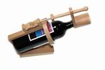 Wijnfles puzzel met rode wijn