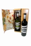 Wijnspel met rode en witte wijn
