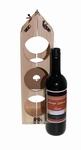 Wijnrek wijnfles met felicitatie etiket