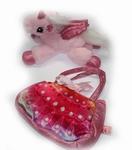Pluche eenhoorn in handtas