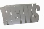 Tijdschriften houder metaal wit